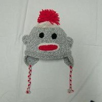 Sock Monkey Hat reserved for RiotVintage by jessicambaiseku