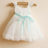 18m,24m,3y,4y,5y baby girl tutu dress toddler girls dress white tutu flower girl dress