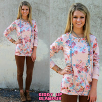 Completely Cozy Pink Floral Sweater
