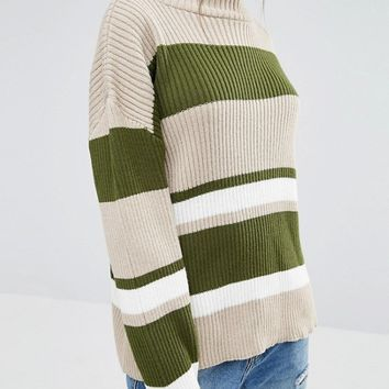 Daisy Street Striped Jumper at asos.com
