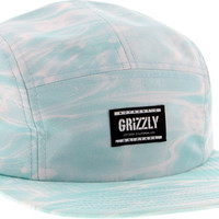 Grizzly Gone Fishing Camp Hat Adjustible Blue