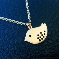 Bird Necklace Gold Sparrow Flying Birthday Bridesmaid Gift - Wedding Jewelry | Handmade Jewelry |
