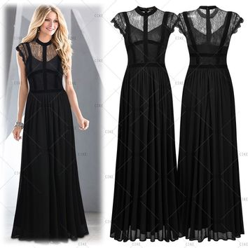Formal Lace Evening Dress, US Sizes 4 - 16