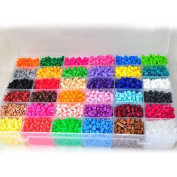 11000 Pcs / Box Hama Beads 5MM Perler Beads 36 Colors DIY Creative Puzzles Toys Tangram Jigsaw Board Baby Kid Educational Toys