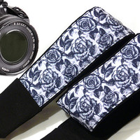 Roses Camera Strap. Floral Camera Strap. Flowers Camera Strap. Dslr Camera Strap. Accessories