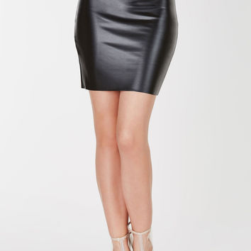 For Show Faux Leather Skirt
