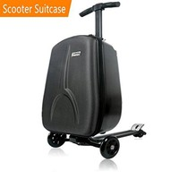 scooter suitcase by iubest, travel scooter luggage, multi functional suitcase