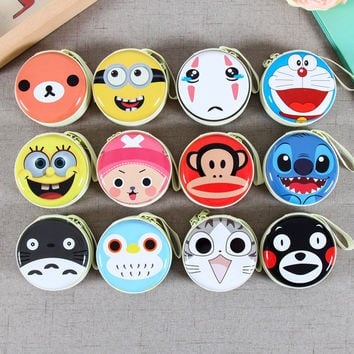 14 Style Cartoon Mini Zipper Earphone Bag Headphone Box SD Hold Case Earbud Card Carrying Hard Pouch Storage Case Free Shipping