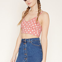 Polka Dot Cropped Cami