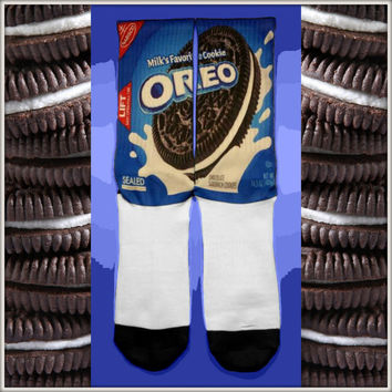 Oreo Cookie Custom Nike Elite Crew Socks - limited edition