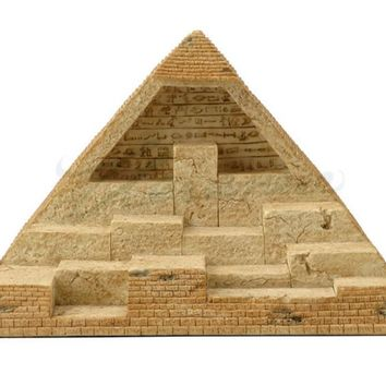 Egyptian Pyramid Display for Miniature Statues of Egyptian Gods and Goddesses 7.1H