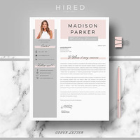 Creative & modern Resume / CV Template for Word | Professional Resume / CV design + Cover Letter + References + free tips | Instant Download