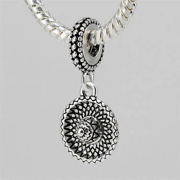 European Cute Hat Silver Plated DIY Lovely National Pendant Beads Charms Fit Women Pandora Bracelets & Bangles Jewelry