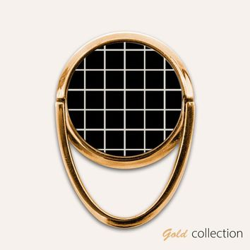 Gold Grid Phone Ring Finger Holder Mount Stand Grips