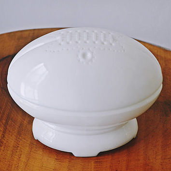 Anchor Hocking Milk Glass Football Trinket Box, Football Bowl, Football Dish