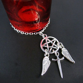 Angel. Hunter. : A Supernatural Inspired Charm Necklace