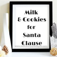 Christmas Home Prints, Christmas Holiday Wall Typographic Art,Santa Clause Printable Qutote Poster, Instant Digital Download, Xmas Table Art