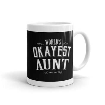 World's Okayest Aunt Coffee Mug