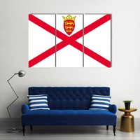 Jersey Flag Multi Panel Canvas Wall Art