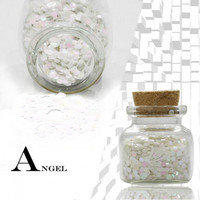 12ml ZERO NANA Environmental Laser Round Dot Sequins Nail Art Decoration White - Default