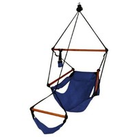 Blue Camping Air/sky Hanging Chair with Pillow Outdoor Porch Swing Hammock