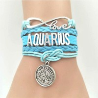 Zodiac Multilayer Leather Bracelet