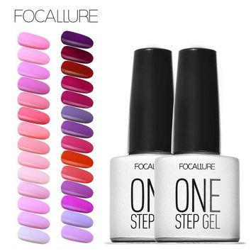 Focallure 3 in 1 UV Gel Soak Off UV One Step Nail Gel Polish 6ml No Need Top Base Coat For Nails Art vernis semi permanent