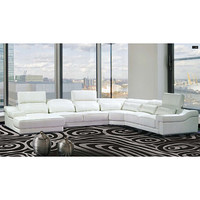 Maxima 4-piece White Bonded Leather Sectional Sofa | Overstock.com Shopping - The Best Deals on Sectional Sofas
