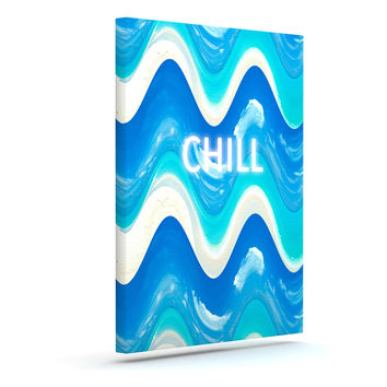 "Vasare Nar ""Chill"" Blue Aqua Canvas Art"