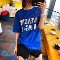 """Givenchy"" Women Casual All-match Simple Letter Print Short Sleeve T-shirt Top Tee"
