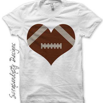Iron on Football Shirt PDF - Sports Iron on Transfer / Boys Football Heart Shirt / Kids Sports Birthday Party / Love Football Tshirt IT251-C