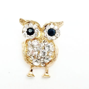 Brooch - Combination of Swarovski Crystal Owl