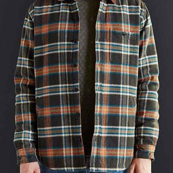 Koto Plaid Shirt Jacket- Black
