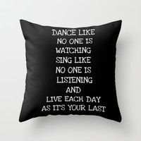 DANCE LIKE Throw Pillow by  Alexia Miles photography