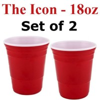 Red Cup Living 18 Oz. Reusable Red Cup - The Icon (Set of 2)