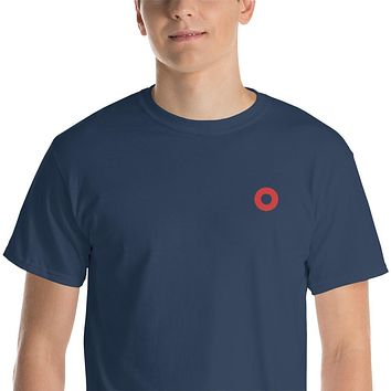 PH Embroidered Red Circle Donut Short-Sleeve T-Shirt
