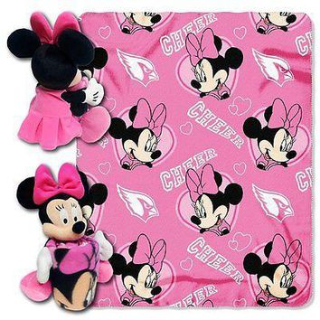 Minnie Mouse Cheerleader Arizona Cardinals NFL Throw and Hugger Pillow Set