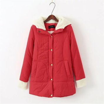 2017 Warm Winter Coat Female Thick Berber Fleece Long-sleeved Coat Comfortable Casual Cotton-padded Clothes Women 5 Colors