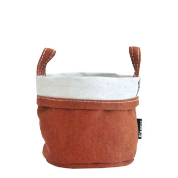 Waxed Camel Recycled Canvas Bucket