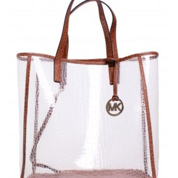 Michael Kors Large Clear Nora Tote in Barley