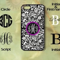 Monogram European Rustic Pattern-iPhone 5, 5s, 5c, 4s, 4 case, Ipod touch 5, Samsung GS3, GS4 case-Silicone Rubber or Hard Plas