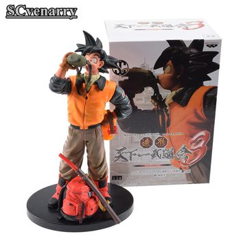 25cm Anime Banpresto Dragon Ball Super Action Figure Drinking Black Goku Zamasu PVC Dragon Ball Z Super Saiyan Model Toy
