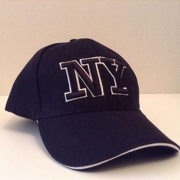 DCK4S2 New York Baseball Cap NY Black Hat Adjustable Sport Hip-Hop Hat Unisex New York
