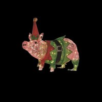 Home Accents Holiday, 32 in. 100-Light Acrylic Lighted Pig, TY046-1411 at The Home Depot - Tablet