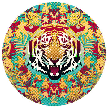 Ali Gulec's Hypnotic Tiger Circle Print Wall Decal