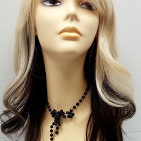 Long 18 inch Blonde and Dark Brown Layered Straight Wig featuring Premium Heat Resistant Fiber. (#GSCL438)