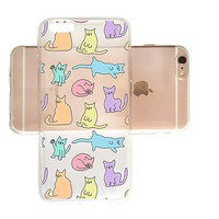 Cute Cat Pattern Slim iPhone 6 Plus Case, Clear iPhone Hard Cover Case for Apple iPhone 6 Plus Emerishop (iPhone 6 Plus)