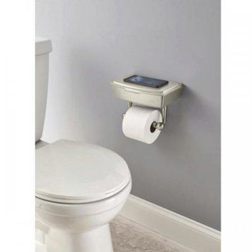 Delta Porter Brushed Nickel Toilet Paper Holder With Storage Box