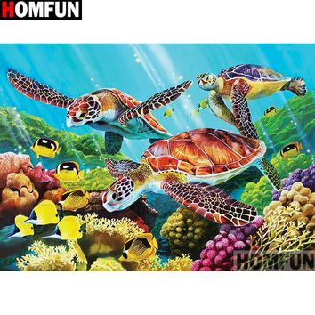 5D Diamond Painting Three Sea Turtles Kit