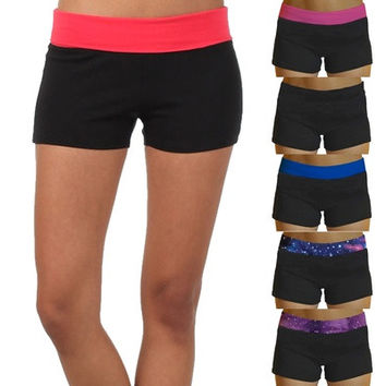 New Women Lady Summer High Waist Sports Yoga  Trousers Shorts [8069656263]